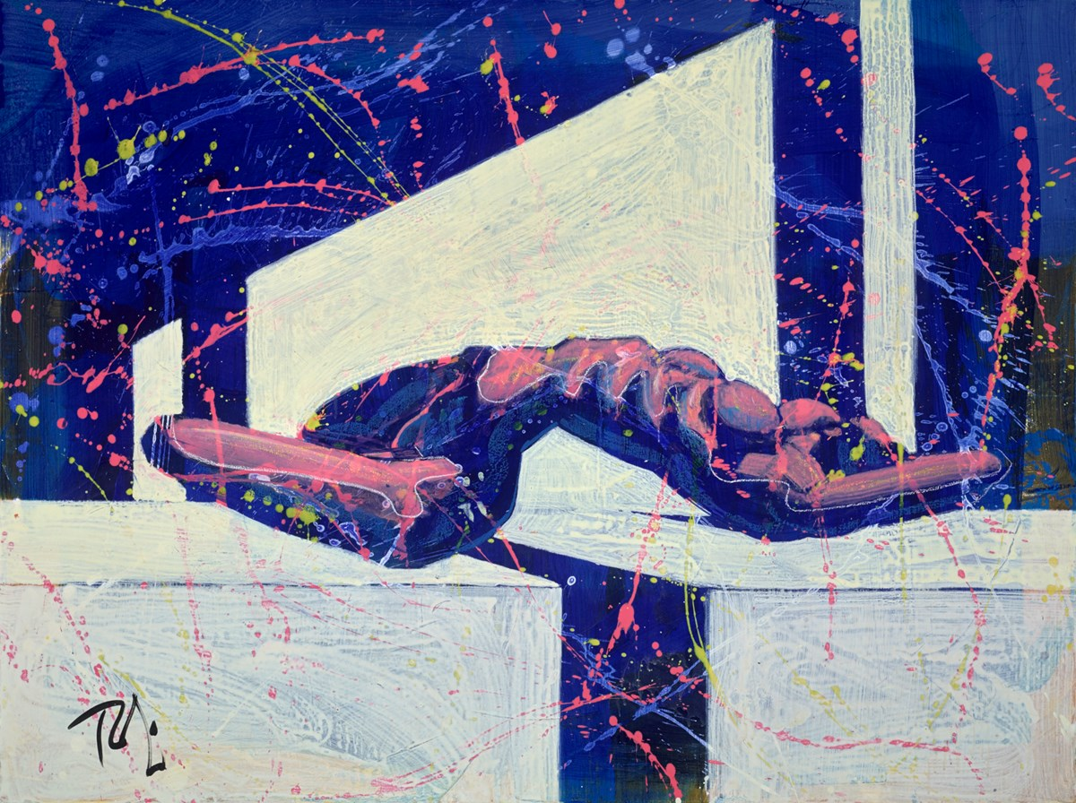 Reclining Stretch by toby mulligan -  sized 48x36 inches. Available from Whitewall Galleries